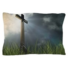 Cross In Field Pillow Case