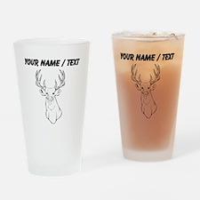 Custom Deer Hunting Trophy Drinking Glass