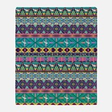 Colorful Hipster Aztec Seamless Trib Throw Blanket