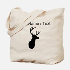 Custom Buck Hunting Trophy Silhouette Tote Bag