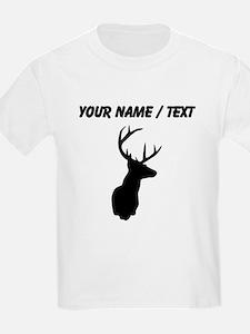 Custom Buck Hunting Trophy Silhouette T-Shirt