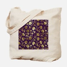 Elegant Purple And Gold Floral Damasks Mo Tote Bag