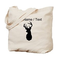 Custom Buck Hunting Trophy Silhouette Tote Bag