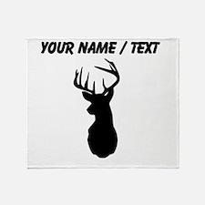 Custom Buck Hunting Trophy Silhouette Throw Blanke