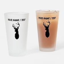 Custom Buck Hunting Trophy Silhouette Drinking Gla
