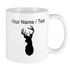 Custom Buck Hunting Trophy Silhouette Mugs