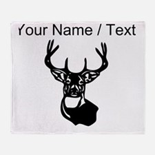 Custom Buck Head Throw Blanket