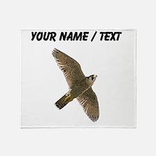 Custom Peregrine Falcon Throw Blanket