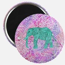 Teal Tribal Paisley Elephant Purple Henna P Magnet