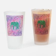 Teal Tribal Paisley Elephant Purple Drinking Glass
