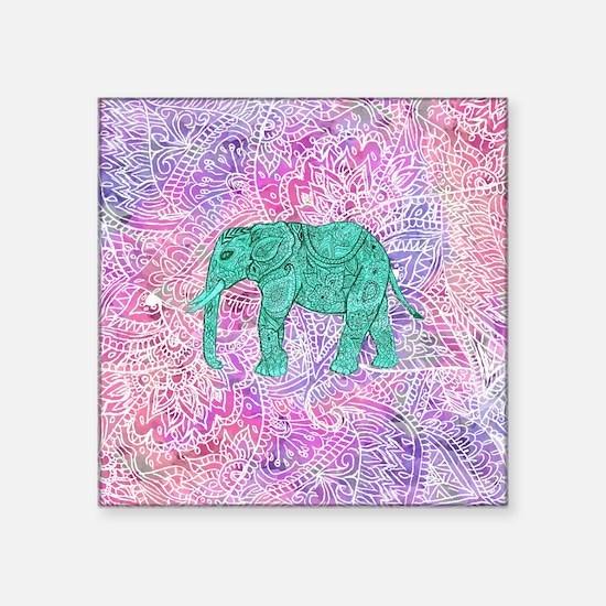 Henna Bumper Stickers CafePress - Elephant monogram car decal