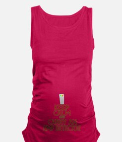 Keep Calm Carry EMF Maternity Tank Top
