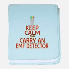 Keep Calm Carry EMF baby blanket