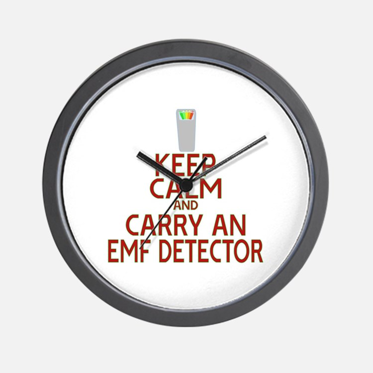 Keep Calm Carry EMF Wall Clock