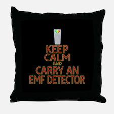 Keep Calm Carry EMF Throw Pillow