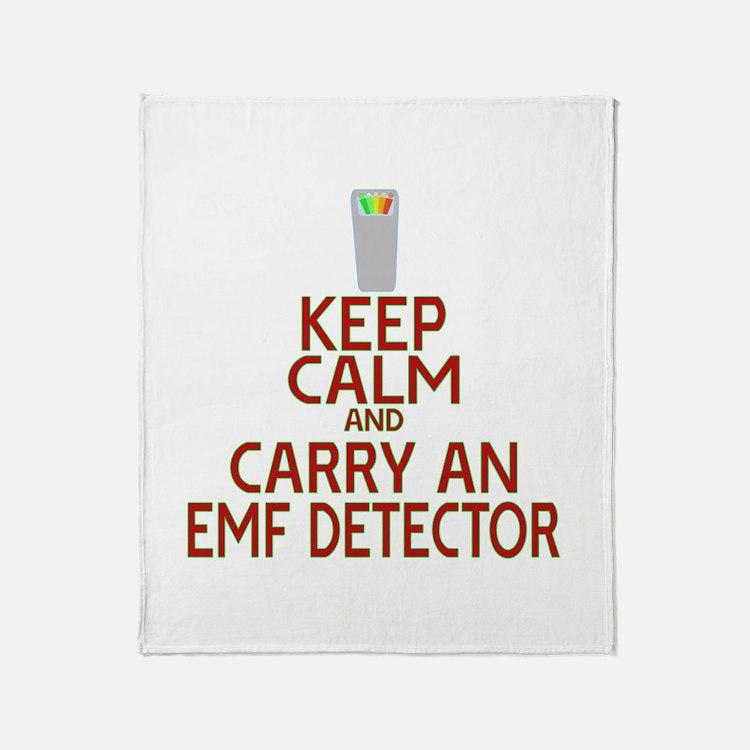 Keep Calm Carry EMF Throw Blanket
