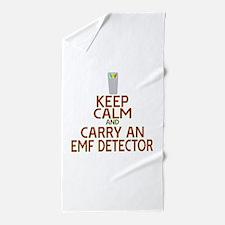 Keep Calm Carry EMF Beach Towel