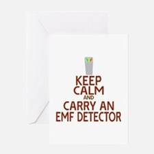 Keep Calm Carry EMF Greeting Card