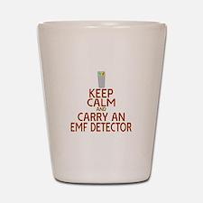 Keep Calm Carry EMF Shot Glass