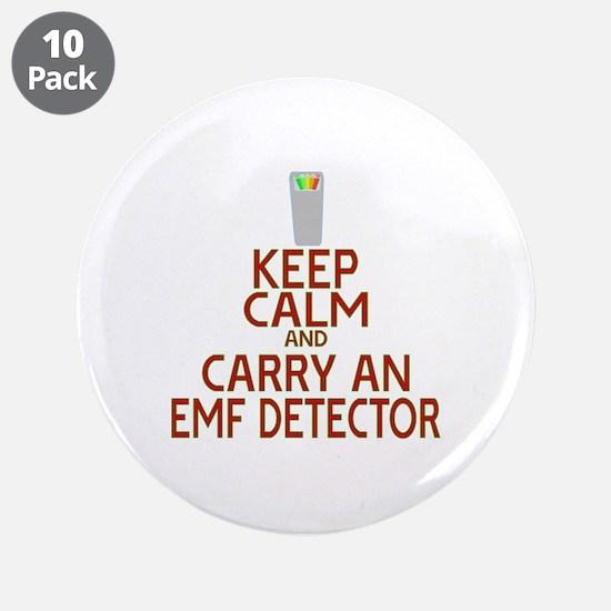 "Keep Calm Carry EMF 3.5"" Button (10 pack)"