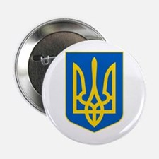 "Ukrainian Coat of Arms 2.25"" Button"