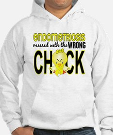Messed With Wrong Chick Endometr Hoodie