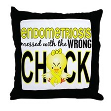 Messed With Wrong Chick Endometriosis Throw Pillow