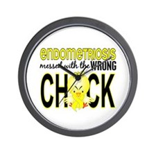 Messed With Wrong Chick Endometriosis Wall Clock
