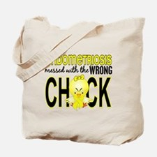 Messed With Wrong Chick Endometriosis Tote Bag