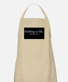 Knitting is Life BBQ Apron