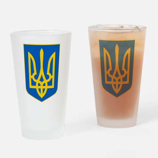 Ukrainian Coat of Arms Drinking Glass