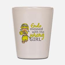 Combat Girl Endometriosis Shot Glass