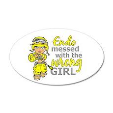 Combat Girl Endometriosis Wall Decal
