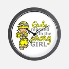 Combat Girl Endometriosis Wall Clock