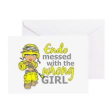 Combat Girl Endometriosis Greeting Card