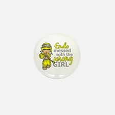 Combat Girl Endometriosis Mini Button (10 pack)