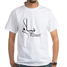 Black Peace with Arabic Calligraphy  Shirt