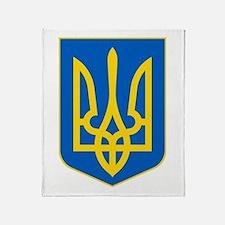 Ukrainian Coat of Arms Throw Blanket