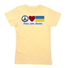 Peace Love Ukraine Girl's Tee