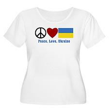 Peace Love Ukraine Plus Size T-Shirt