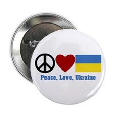 "Peace Love Ukraine 2.25"" Button (10 Pack)"