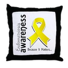 Awareness 5 Endometriosis Throw Pillow