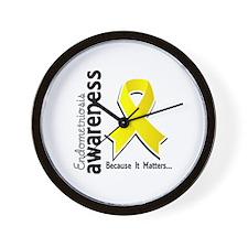 Awareness 5 Endometriosis Wall Clock