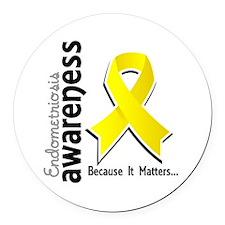 Awareness 5 Endometriosis Round Car Magnet