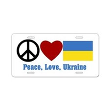 Peace Love Ukraine Aluminum Aluminum License Plate