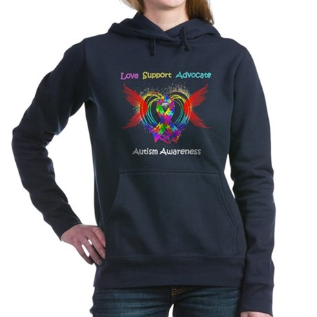 Autism Ribbon with Wings Hooded Sweatshirt