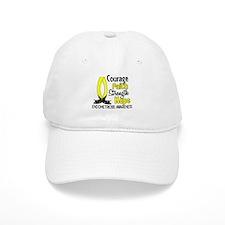 Courage Faith 1 Endometriosis Baseball Baseball Cap