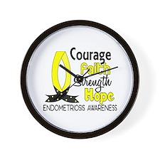 Courage Faith 1 Endometriosis Wall Clock