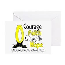 Courage Faith 1 Endometriosis Greeting Card