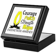 Courage Faith 1 Endometriosis Keepsake Box